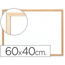 Pizarra Blanca de Melamina con marco de madera 60x40 Q-Connect