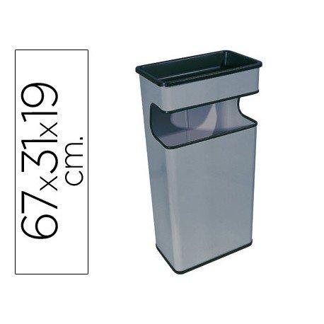 Cenicero papelera Sie gris metal 40 L