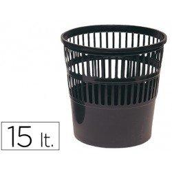 Papelera plastico rejilla de 15 L