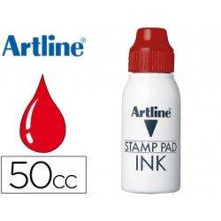 Tinta tampon marca Artline rojo de 50 cc