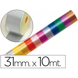 Cinta fantasia color plata 31 mm
