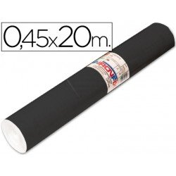 Aironfix Rollo Adhesivo 45cm x 20mt Unicolor Negro Mate 100 MC
