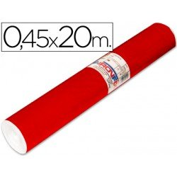 Aironfix Rollo Adhesivo 45cm x 20mt Unicolor Rojo Brillo 100 MC
