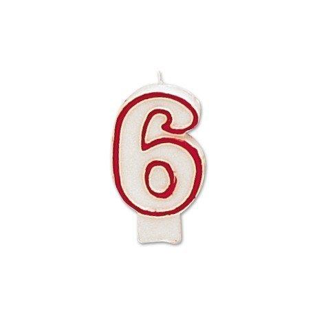 Velas cumpleaños numero 6