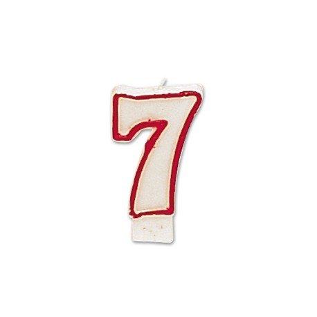 Velas cumpleaños numero 7