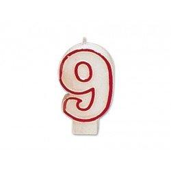 Velas cumpleaños numero 9