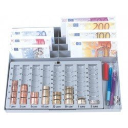 Bandeja portamonedas Euro Liderpapel