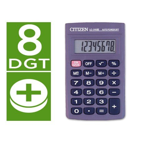 Calculadora Bolsillo Citizen Modelo LC-310N 8 digitos