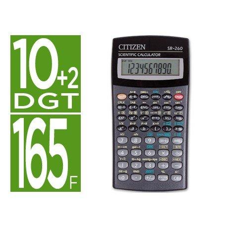 Calculadora Cientifica Citizen Modelo SR-260N 10+2 dígitos