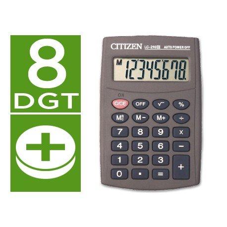 Calculadora Bolsillo Citizen Modelo LC-210N 8 digitos