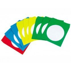 Sobre de papel CD/DVD marca Q-Connect colores