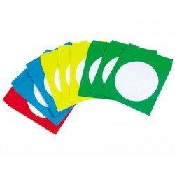 Sobre de papel CD/DVD marca Q-Connect colores