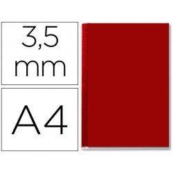 Tapa de Encuadernación Cartón Leitz DIN A4 Burdeos 36/70 hojas