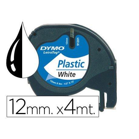 Cinta Dymo Letratag LT Blanco Perla Plástico