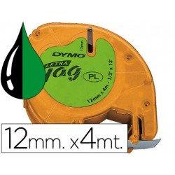 Cinta Dymo Letratag LT Verde Plástico