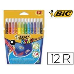 Estuche Rotulador Bic Kid Couleur punta media lavable caja 12 unidades