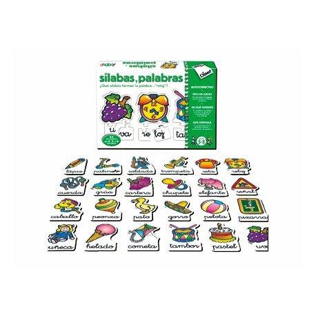 Puzzle didáctico de 5 a 8 años Silabas y palabras Diset