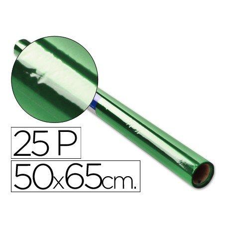 Papel celofan marca Sadipal 50cmx65cm verde