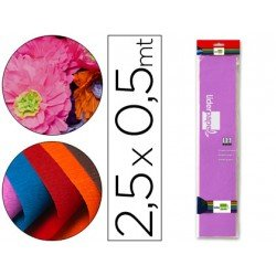 Papel crespon Liderpapel color lila