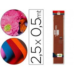 Papel crespon Liderpapel color marron