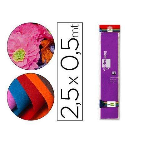 Papel crespon Liderpapel color violeta oscuro