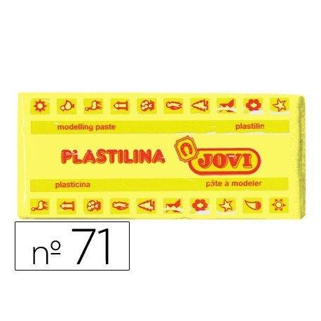 Plastilina Jovi color amarillo claro mediano