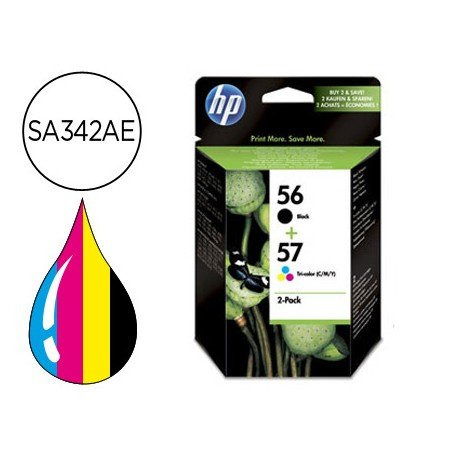 Cartucho pack HP 56 y 57 SA342AE