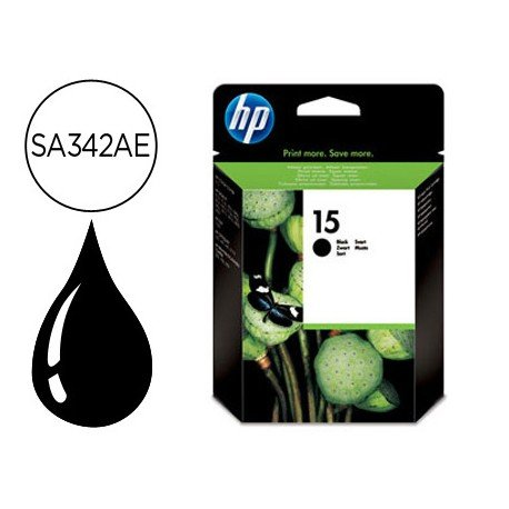 Cartucho HP 15 color Negro C6615DE