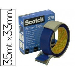Cinta Scotch Adhesiva precinto postal azul