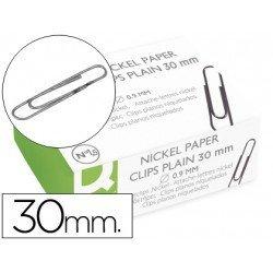 Clips niquelados Nº 1,5 marca Q-Connect 30 mm