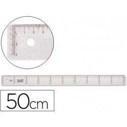 Regla de plastico cristal Liderpapel