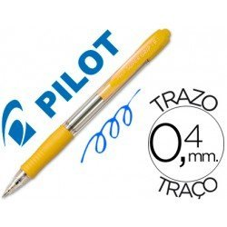 Boligrafo Pilot Super Grip Amarillo tinta azul