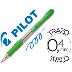 Boligrafo Pilot Super Grip Verde claro tinta azul
