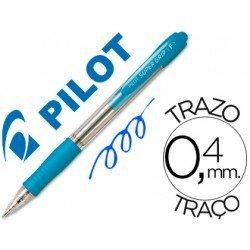 Boligrafo Pilot Super Grip Celeste tinta azul
