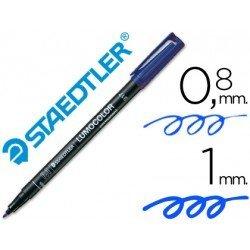 Rotulador Retroproyección Permanente Staedtler Lumocolor 317 Color Azul Punta Superfina Redonda