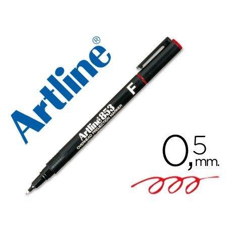 Rotulador retroproyección Artline EK-853 Permanente Color Rojo Punta Redonda