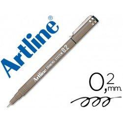 Rotulador Artline calibrado micrometrico negro de 0,2 mm