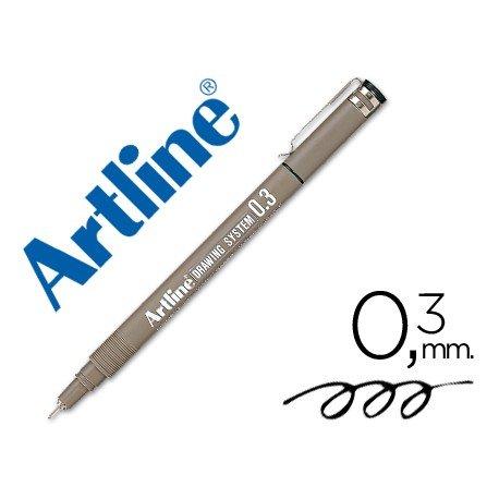 Rotulador Artline calibrado micrometrico negro de 0,3 mm