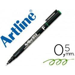 Rotulador retroproyección Artline EK-853 Permanente Color Verde Punta Redonda