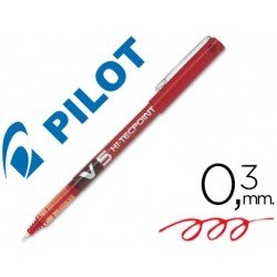 Rotulador Pilot V-5 Trazo 0,3 mm Rojo