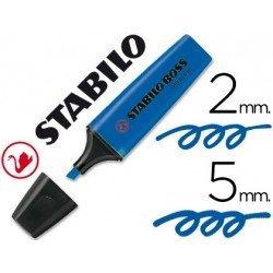 Rotulador Stabilo Boss 70 azul fluorescente