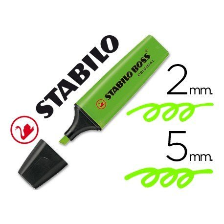 Rotulador Stabilo Boss 70 verde fluorescente