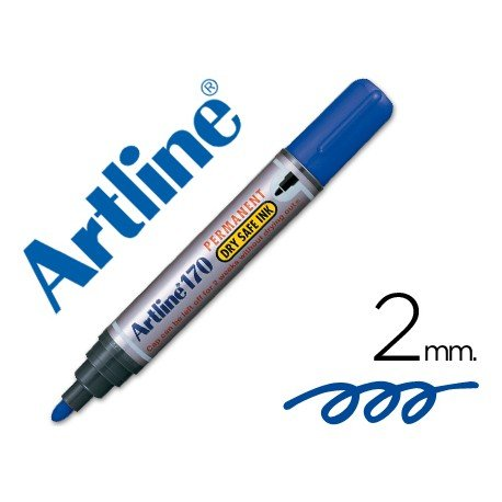 Rotulador Permanente Artline 170 color Azul Punta Redonda