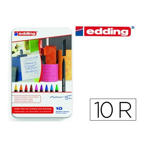 Rotulador Edding 1200 Caja de 10 Rotuladores de colores variados