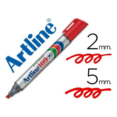 Rotulador Permanente Artline 109 color Rojo Punta Biselada