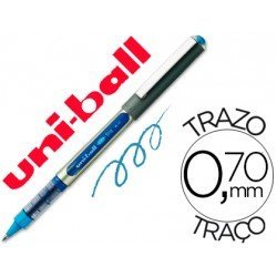 Rotulador-bolígrafo roller Uni-Ball azul claro UB-157 0,5 mm.