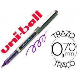 Rotulador-bolígrafo roller Uni-Ball violeta UB-157 0,5 mm.