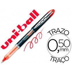 Rotulador-bolígrafo roller Uni-Ball rojo UB-205 Vision 0,4 mm.