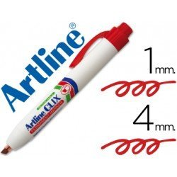 Rotulador Artline Clix color rojo 4mm