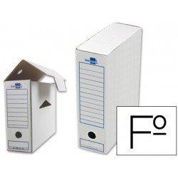 Cajas de archivo definitivo Liderpapel carton blanco folio